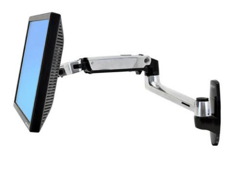 זרוע למסך מחשב עם חיבור לקיר