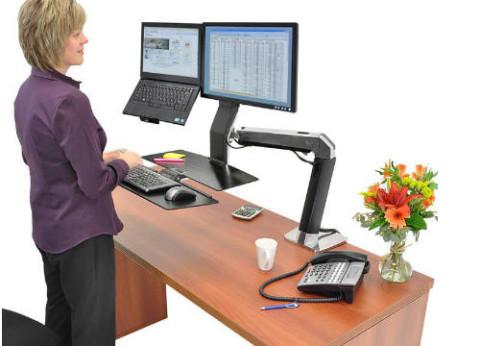 שולחן מחשב עמידה וישיבה ארגונומי