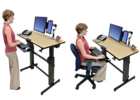 מעמד שולחני למסך ומקלדת Workfit