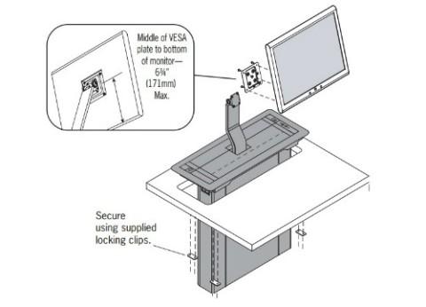 מתקן הרמה למסך Trolley EXL