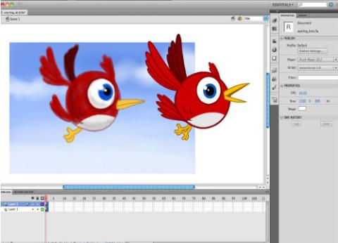 תוכנה לעריכת פלאש Adobe Flash Professional