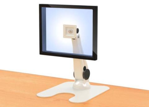 מעמד למסך מחשב עם גובה מתכוונן