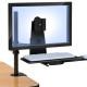 זרוע למסך מחשב משולבת מגש למקלדת ועכבר