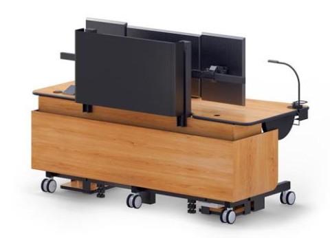 שולחן עמידה ישיבה עם כיוונון הטיה חשמלי