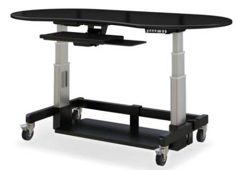 שולחן מחשב מתכוונן חשמלי עמידה ישיבה