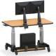 שולחן כתיבה מתכוונן חשמלי עם זרוע כפולה למסך מחשב