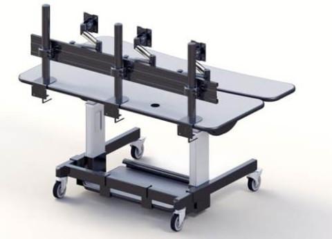 שולחן כתיבה חשמלי בעל פונקציונליות רבה