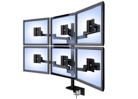 מעמד ארגונומי למספר רב של מסכי מחשב