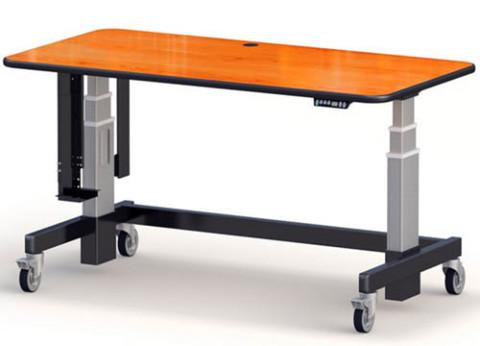 עמדת עבודה עמידה ישיבה | שולחן מחשב מתכוונן חשמלי