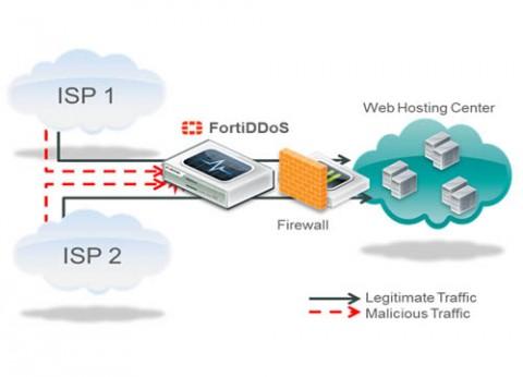 הגנה מפני מתקפות מניעת שירות מבוזרת פורטינט FortiDDoS