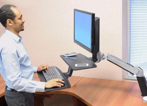 עמדת עבודה עמידה ישיבה מתכווננת WorkFit-A