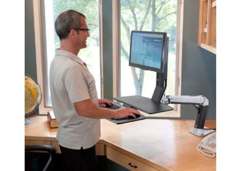 זרוע ארגונומית משולבת משטח עבודה מתכוונן WorkFit-A