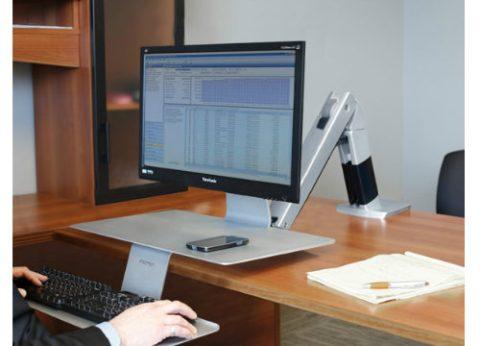 עמדת עבודה מתכווננת לעמידה וישיבה WorkFit-A Platinum