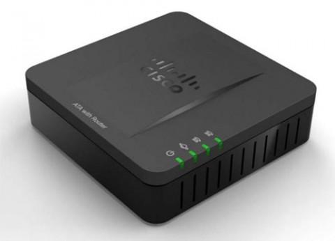 מתאם VoIP משולב ראוטר סיסקו Cisco SPA122 ATA