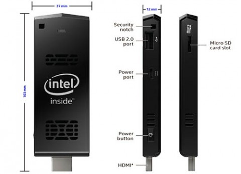 מחשב סטיק מיני זעיר אינטל Intel Compute Stick