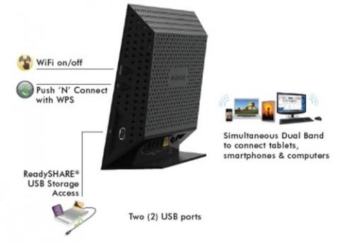 ראוטר נטגיר פירוול אלחוטי Netgear WiFi R6300