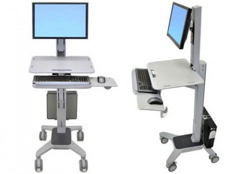 עגלת עבודה ארגונומית למסך מחשב WorkFit-C