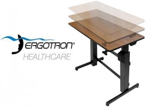 שולחן מתכוונן עמידה ישיבה ארגוטרון WorkFit-D