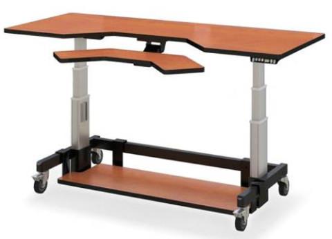 שולחן מחשב חשמלי מתכוונן עמידה ישיבה ארגונומי