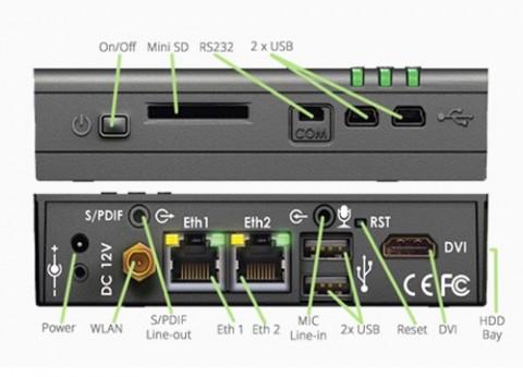 מחשב קטן קומפקטי CompuLab Fit-PC2