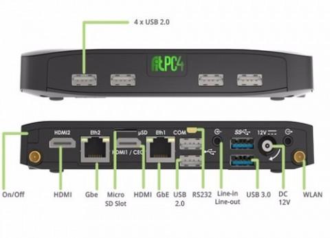 מחשב קטן קומפקטי CompuLab Fit-PC4