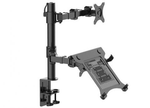 זרוע ארגונומית משולבת מסך ומחשב נייד