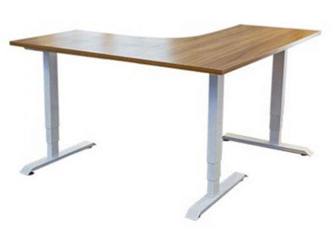 שולחן מחשב חשמלי פינתי בצורת L