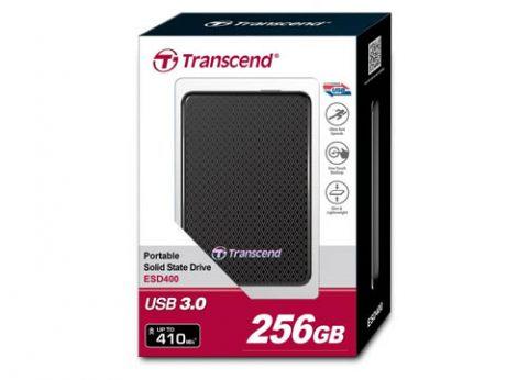כונן קשיח חיצוני נייד Transcend ESD400 SSD 256GB